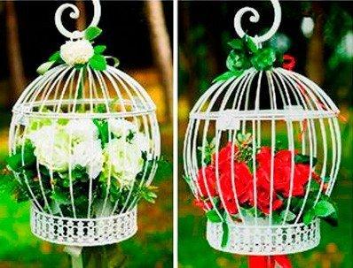 Jaula Decoración Blanca (Precio Unitario) - Jaula Decorativa ...