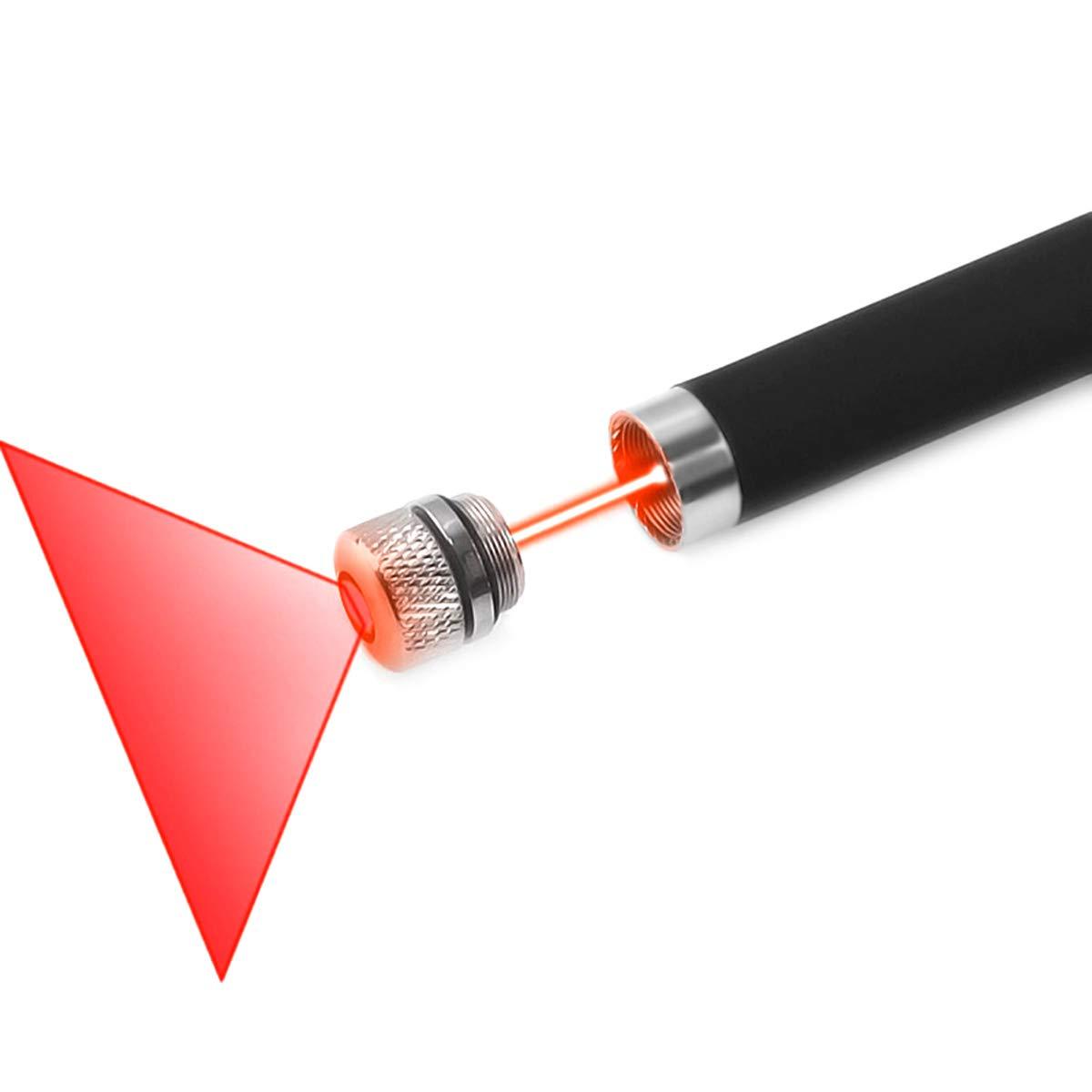FreeMascot Green/Red Light Line Beam Presenter Pen (Black) (Red)