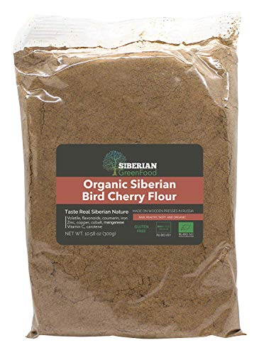 Organic Siberian Bird Cherry Powder (Flour), Gluten free, 300gr/10.58oz by Siberian Green Food, European organic certificate ... ()