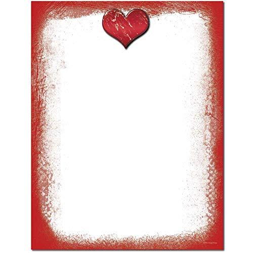 Grunge Heart Letterhead Laser & Inkjet Printer Paper (100 Pack)