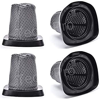 Techypro 4 Pack Replacement Dust Cup Filter for Dirt Devil F25 F-25 Filter, Replace Part # 2SV1102000