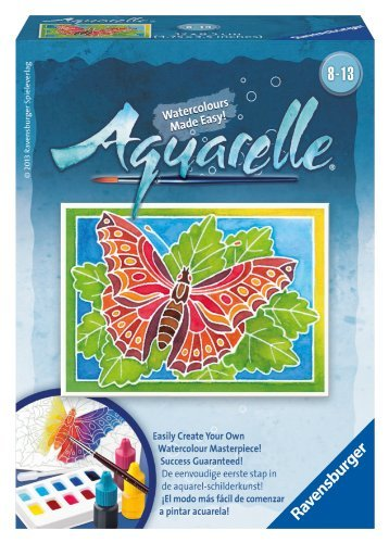 Ravensburger Aquarelle Mini Butterfly Watercolours Made Easy Game
