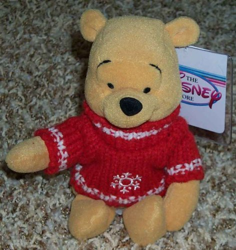 (Disney Winnie the Pooh Holiday Snowflake Red Sweater 8
