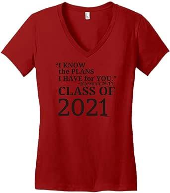 Christian Graduation Gift Jeremiah 29:11 Class 2021 Juniors Vneck
