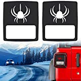 Taillights Covers Tail light Guard Rear Light Protector Cover Trim Matte Black Spider Style Accessories For 2018 Jeep Wrangler JL Sport/Sports
