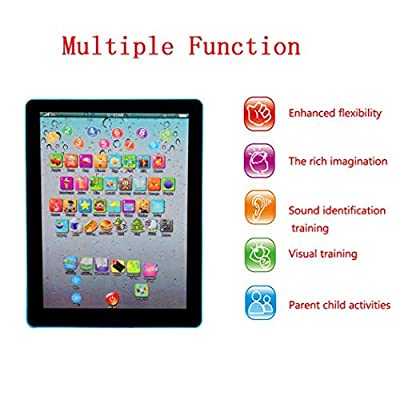 Kindes 18.5x14x2cm Kids Pad Toy Pad Computer Tablet Education Learning Education Machine Touch Screen Tab Electronic Systems: Garden & Outdoor