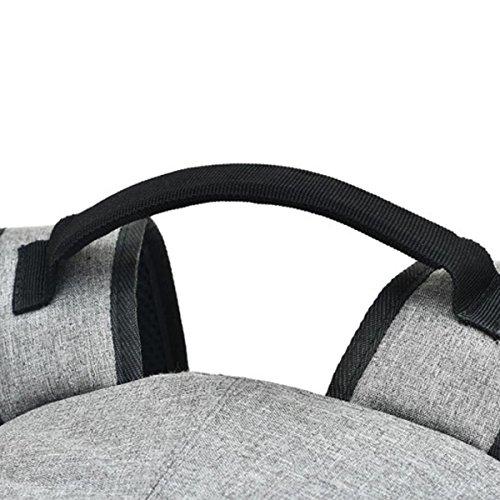 USB Mochila Capacidad Ocio Externa Hombres Interfaz Gray De Gran Antirrobo De 0f6rf
