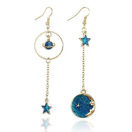 5cc8264fb765 Amazon.com  YOMXL Star Moon Earrings