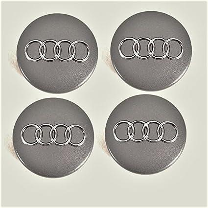 Tapas de buje 4B0601170 para Audi, set de 4 piezas gris metálico 60 mm, juego de 4 x unidades, tapacubo, llanta, tapa para llanta: Amazon.es: Coche y moto