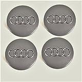 Tapas de buje 4B0601170 para Audi, set de 4 piezas gris metálico 60 mm, juego de 4 x unidades, tapacubo, llanta, tapa…