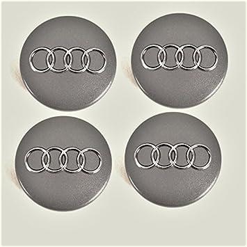 Tapas de buje 4B0601170para Audi, set de 4piezas gris metá