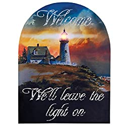 Ohio Wholesale Lighthouse Welcome Canvas Radiance Lighted Wall Art