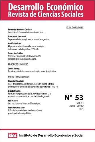 Desarrollo Económico Número 53 Revista De Ciencias
