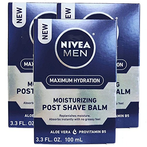 - NIVEA FOR MEN Moisturizing Post Shave Balm 3.30 oz ( Pack of 3)