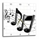 3dRose Music Notes Wall Clock, 10 by 10-Inch Review