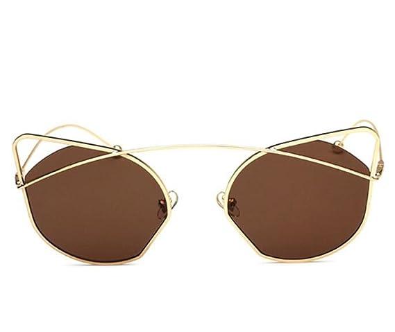 RDJM Occhiali da sole per donna e uomo, occhiali da sole con specchi catarifrangenti per occhiali Cat Eye, Multicolor Opcional, b
