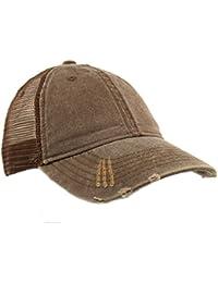 63de02b48d2a2 Unisex Distressed Low Profile Trucker Mesh Summer Baseball Sun Cap Hat