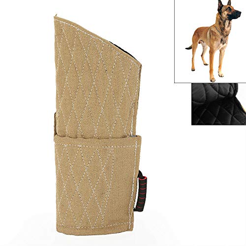 Dog Bite Sleeve Tugs, Durable Dog Arm Protection Jute Bite Sleeve Young Puppy Medium Dogs Training Playing for Both Left and Right Hand - US Shipping