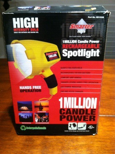 Spotlight Rechargeable 1 Million Candle Power Smarter Tools ()