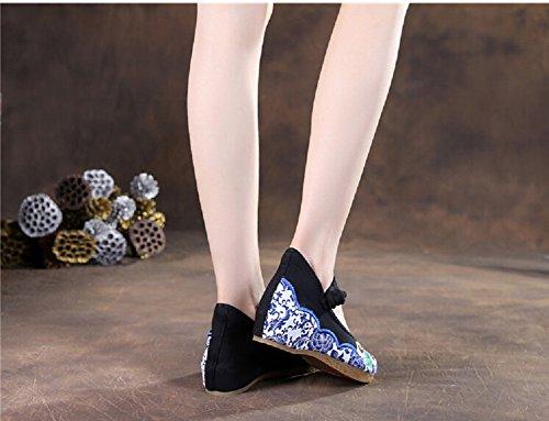 Lazutom - Sandalias de vestir de Lona para mujer Varios Colores multicolor Talla única negro