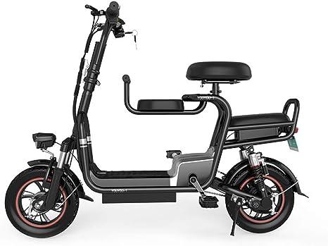 ZZQ Bicicleta eléctrica Plegable de Dos Ruedas, batería extraíble ...