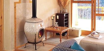 Caminetti In Ceramica.Earthfire Caminetto In Ceramica White Raku Iziko