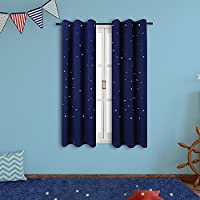 Starry Sky Kids Room Curtains (2 Panels), Anjee Blackout...