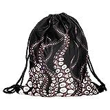 3D Print Drawstring Backpack Rucksack Shoulder Bags Gym Bag (octopus) For Sale