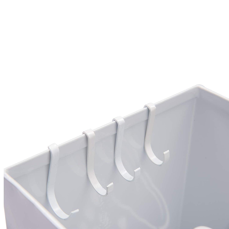WOLTU SST07ws Portaombrelli Supporto da Appoggio per Ombrellone Contenitore Quadro in Ferro Bianco