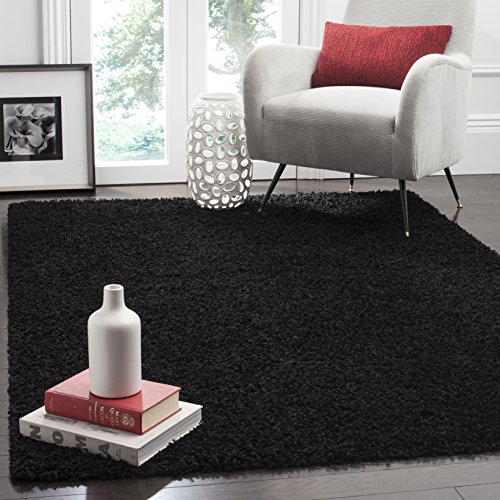 Safavieh Athens Shag Collection SGA119K Black Area Rug (3' x 5')