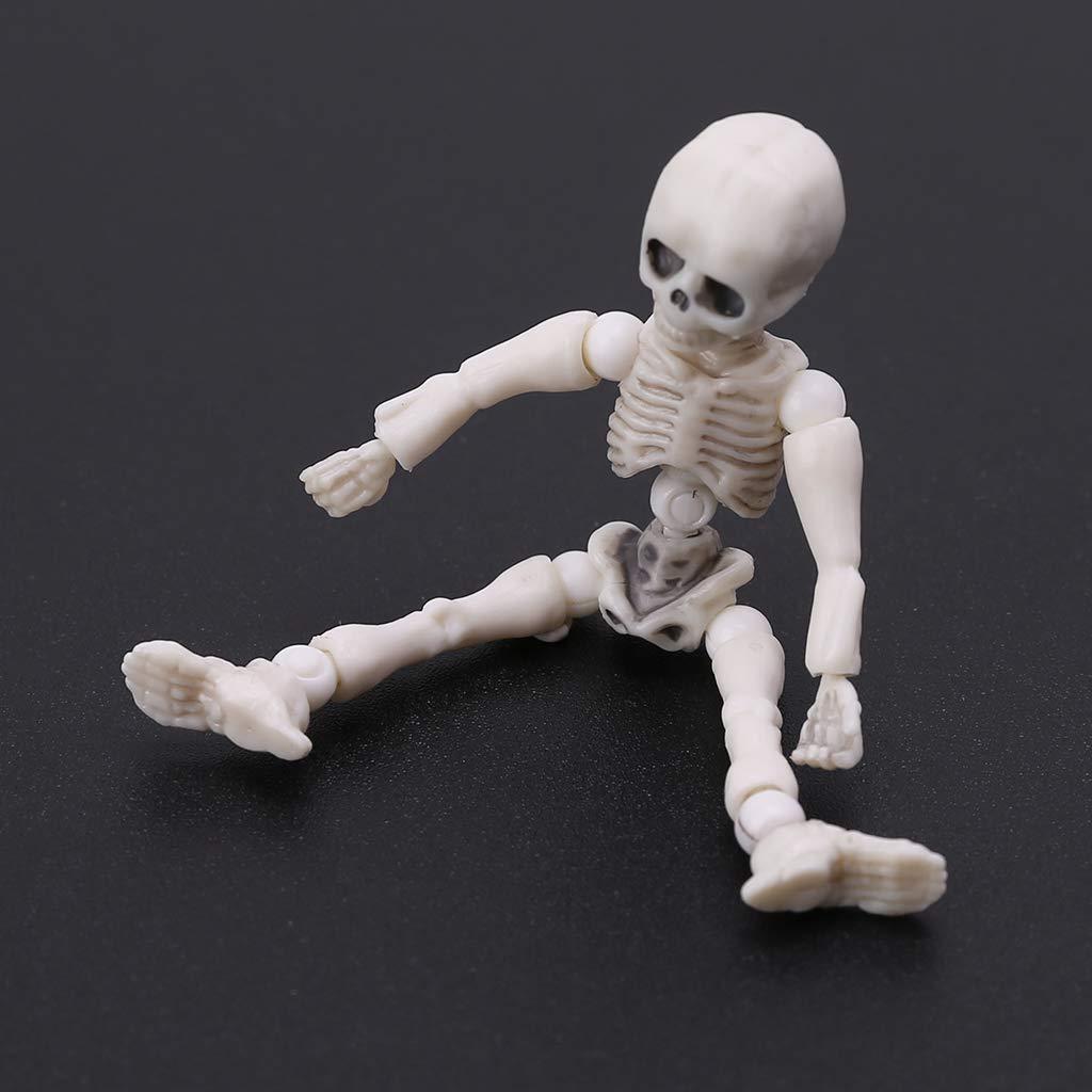 Bones Skeleton Human Model Skull Full Body Mini Figure Toy Halloween Movable Mr