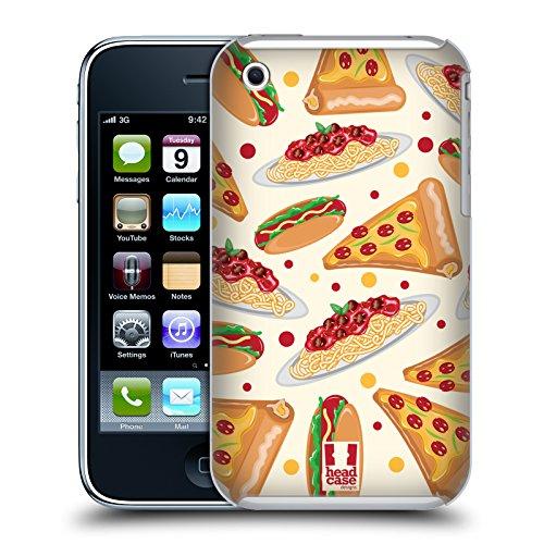 Head Case Designs Pizza Delizie Cover Retro Rigida per Apple iPhone 3G / 3GS