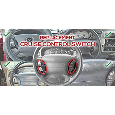 Steering Wheel Mounted Cruise Control Switch - Fits Ford Explorer, Explorer Sport Trac, Ranger and more - Cruise Control Switch F150 Steering Controls - Replaces F87Z9C888BB 2000 2001 2002 2003: Automotive