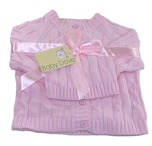 Price comparison product image Baby Dove Cable Knit Cardigan & Beanie Set