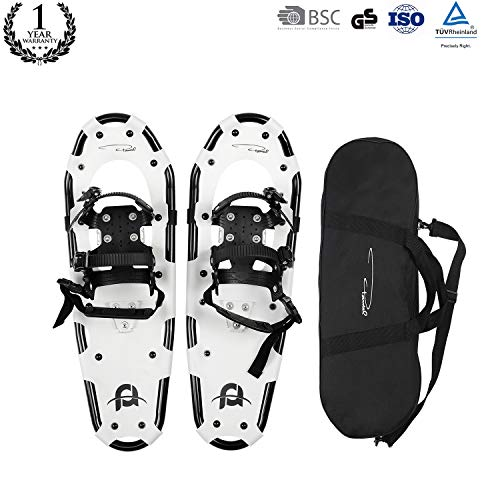 415e84878327 Pansel All Terrain Snowshoes Lightweight Aluminum Alloy Snow Shoes Carry  Bag Adjustable Ratchet Bindings