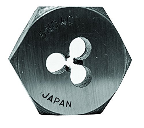 Century Drill & Tool 96099 High Carbon Steel Fractional Hexagon Die, 5-40 NC