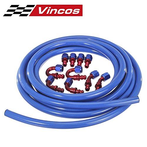 (20 Ft 8AN AN 8 Push Lock Oil Gas Fuel Hose + 10pcs AN 8 Hose Fitting Kit)