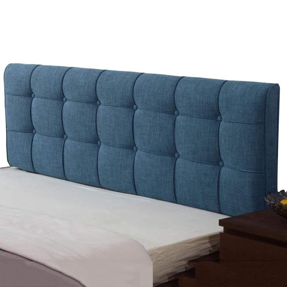 LIANGLIANG クッションベッドの背もたれ ホテルベッドルームベッドバックレストウォッシャブルダブル人物エクストララージスポンジフィーリング快適な布地、5サイズ、6色 (色 : 青, サイズ さいず : 180x58x10CM) 180x58x10CM 青 B07KGBPRF4