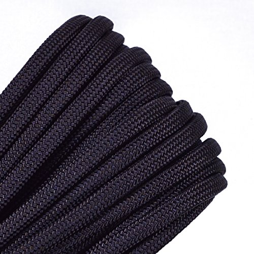 Solid Colors Paracord - Type III Parachute Cord - Acid Brown - 50 Feet by BoredParacord (Image #1)