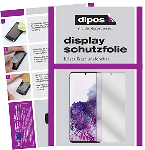 dipos I 2x Screen Protector compatible with Samsung Galaxy S20 Plus Protection Films clear