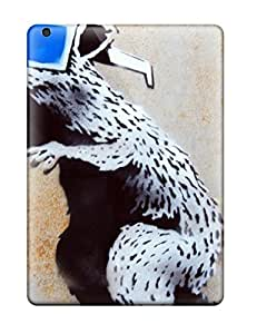 Fashion Tpu Cases For Ipad Air- Scratchresistant Banksy 3d Rat Defender Cases Covers