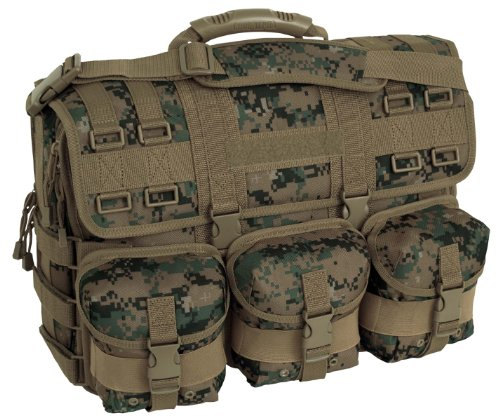 (Mercury Tactical Gear Code Alpha Computer Messenger Bag with Molle Pouches, Marpat,)