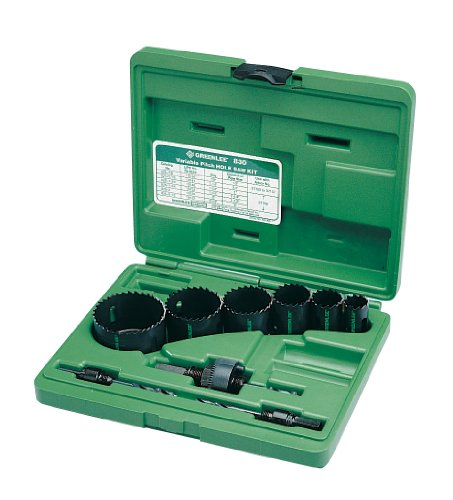 (Greenlee 830 Bi-Metal Hole Saw Kit, Conduit Sizes 7/8