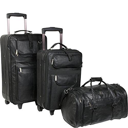 AmeriLeather Leather 3 Pc. Set Traveler ()