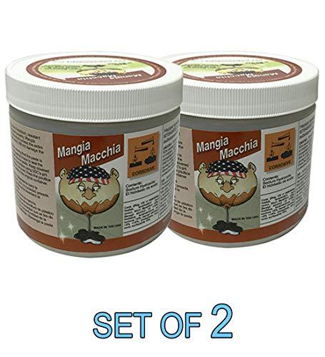 Mangia Macchia Spot & Stain Remover for Marble Granite 16 oz [Set of 2]