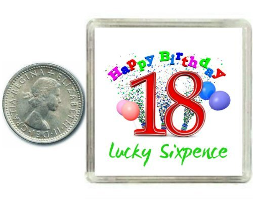 18th Birthday Lucky Sixpence Gift, Great good luck present idea for boy or girl Oaktree Gifts