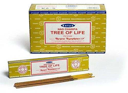 Satya Tree of Life Incense Sticks 180グラムボックス B072HLDVP4