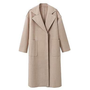 503f7adc924d Parka Veste Classique Femme Manteaux en Laine DéContracté Trench Coat Long  à La Mode Blouson Jacket