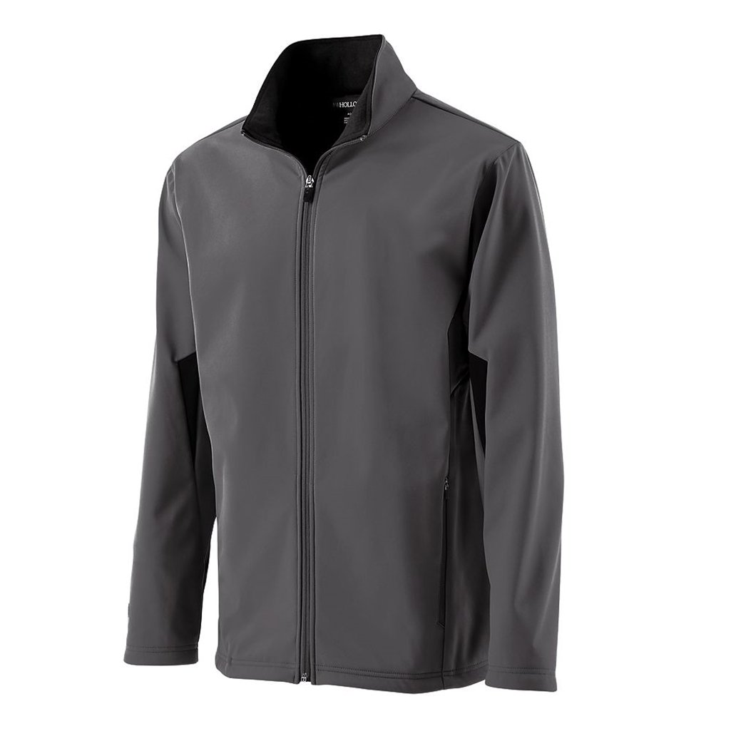 Holloway Youth Revival Semi-Fitted Jacket (Small, Graphite/Black) by Holloway