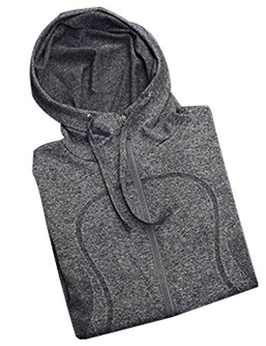 CHARAVECTOR-Womens-Outdoor-Sports-Long-Sleeve-Cap-Unlined-Upper-Garment-Zipper-Coat